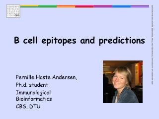 B cell epitopes and predictions