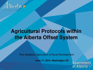 Agricultural Protocols within the Alberta Offset System