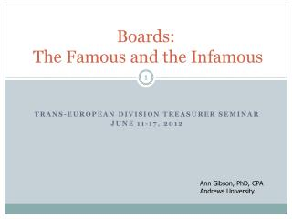 Boards:   The Famous and the Infamous