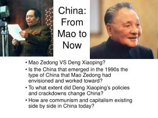 China: From Mao to Now