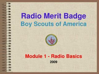Radio Merit Badge Boy Scouts of America