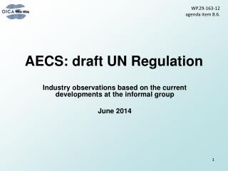 AECS: draft UN Regulation