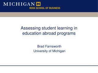 Assessing student learning in education abroad programs