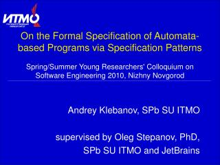 On the Formal Specification of Automata-based Programs via Specification Patterns