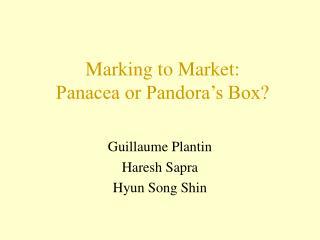Marking to Market: Panacea or Pandora's Box?