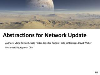 Abstractions for Network Update
