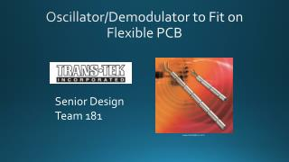 Oscillator/Demodulator to Fit on Flexible PCB