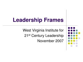 Leadership Frames