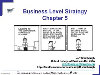 Business Level Strategy Chapter 5