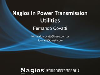 Nagios  in Power  Transmission Utilities