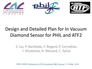 Design and Detailed Plan for In Vacuum Diamond Sensor for PHIL and ATF2