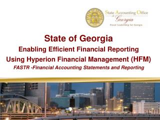 State of Georgia  Enabling Efficient Financial Reporting