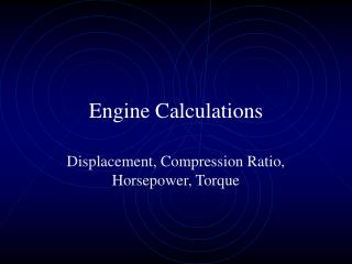 Engine Calculations