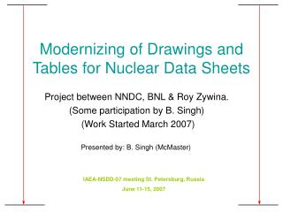 Modernizing of Drawings and Tables for Nuclear Data Sheets
