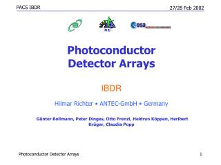 Photoconductor  Detector Arrays IBDR