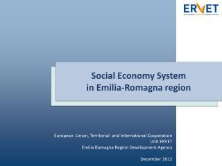 Social Economy System  in Emilia-Romagna region