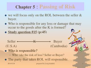 Chapter 5  :  Passing of Risk
