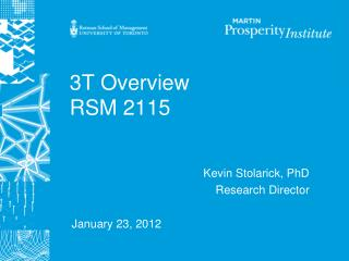 3T Overview RSM 2115
