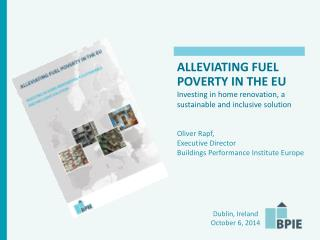 ALLEVIATING  FUEL POVERTY IN THE  EU