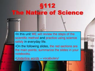 §112  The Nature of Science