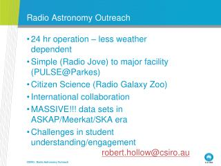 Radio Astronomy Outreach