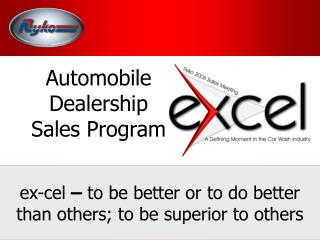 Automobile Dealership  Sales Program