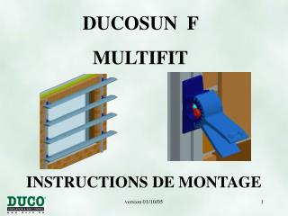 INSTRUCTIONS DE MONTA GE