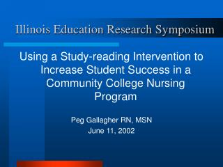 Illinois Education Research Symposium