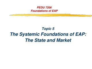 PEDU 7206 Foundations of EAP