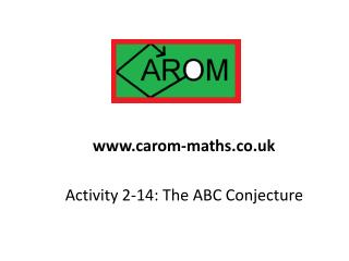 Activity 2-14: The ABC Conjecture