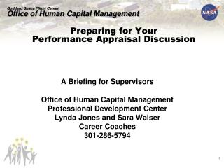Preparing for Your  Performance Appraisal Discussion