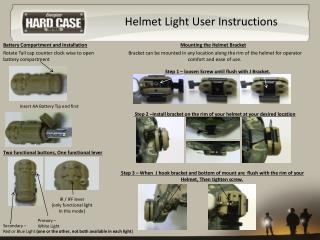 Helmet Light User Instructions