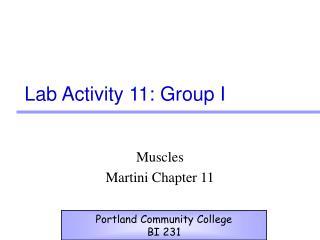 Lab Activity 11: Group I