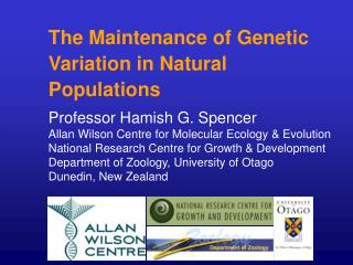 The Maintenance of Genetic Variation in Natural Populations