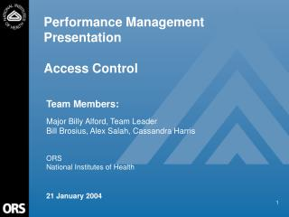 Performance Management Presentation Access Control