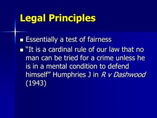 is the principle of fairness a