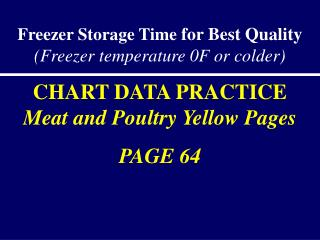 Freezer Storage Time  for Best Quality  (Freezer temperature 0F or colder)