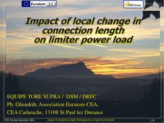 Impact of local change in  connection length  on limiter power load