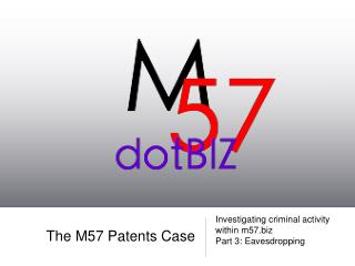 The M57 Patents Case