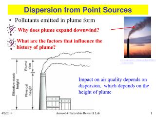 Dispersion from Point Sources