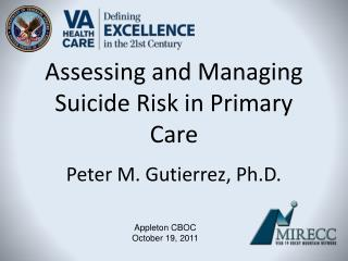 Assessing and Managing Suicide Risk in Primary Care