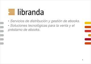 Servicios de distribución y gestión de ebooks.
