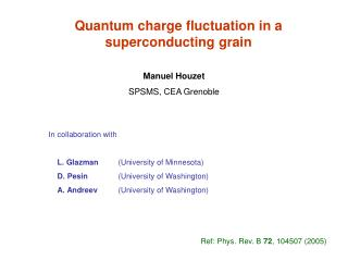 Quantum charge fluctuation in a superconducting grain