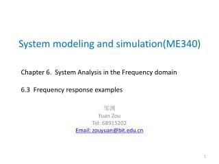 System modeling and simulation(ME340)