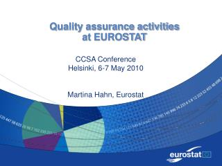 Quality assurance activities  at EUROSTAT