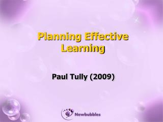 Planning Effective Learning