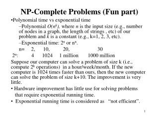 NP-Complete Problems (Fun part)