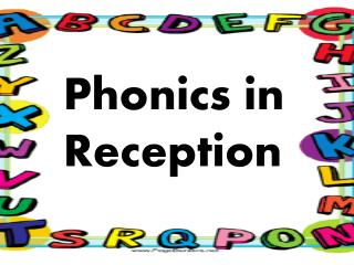 Phonics in Reception