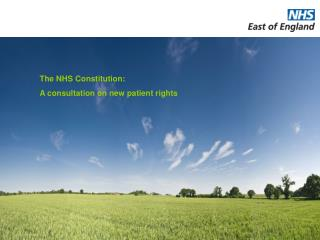 The NHS Constitution: A consultation on new patient rights