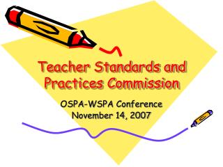 Teacher Standards and Practices Commission